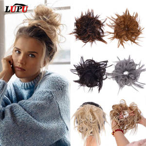 LUPU Hairpiece Hair-Bun Fake-Hair Messy-Scrunchie Updo Elastic-Band Synthetic-Chignon