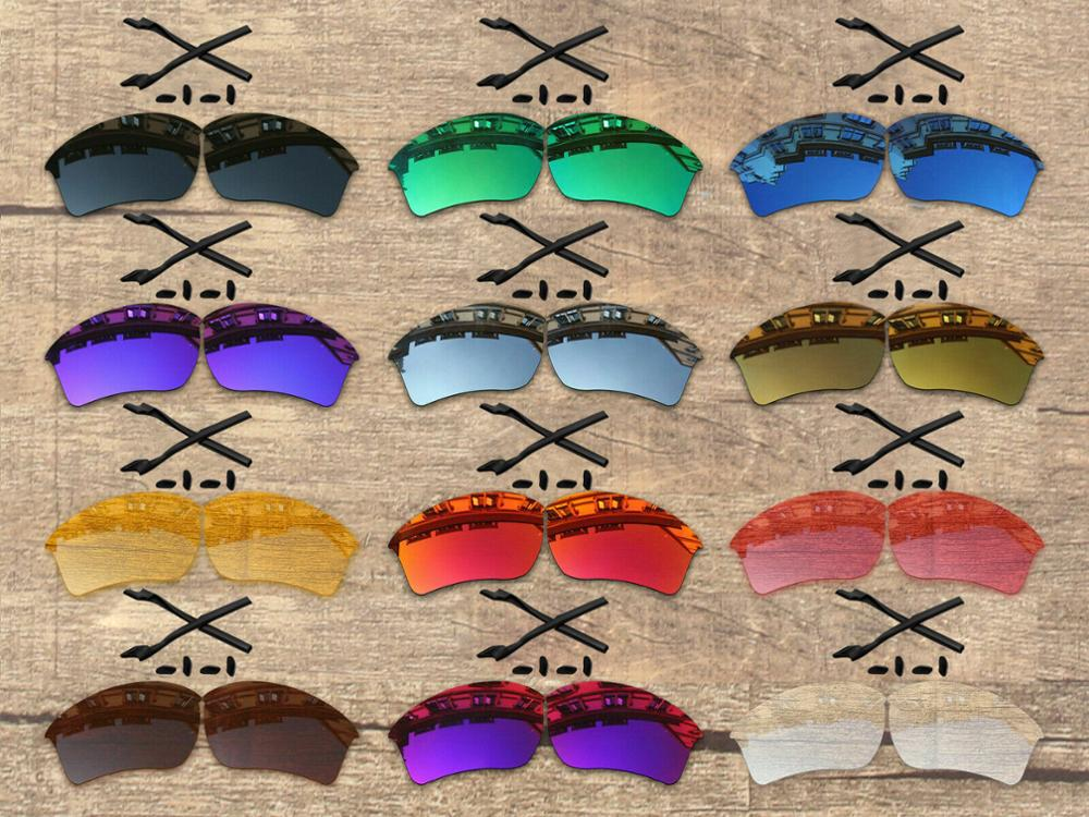 Vonxyz 20+ Color Choices Polarized Replacement Lenses & Nose Pads Ear Socks for-Oakley Half Jacket 2.0 XL OO9154 Frame