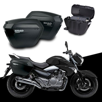for SUZUKI GW250 GW 250 S/F SHAD SH23 Side Boxs+Rack Set Motorcycle Luggage Case Saddle Bags Bracket Carrier System