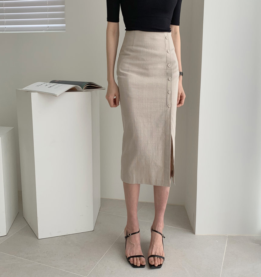 Elegant Office Lady Spring Summer Slim Skirt Women Bodycon High Waist Skinny Female Midi Skirts