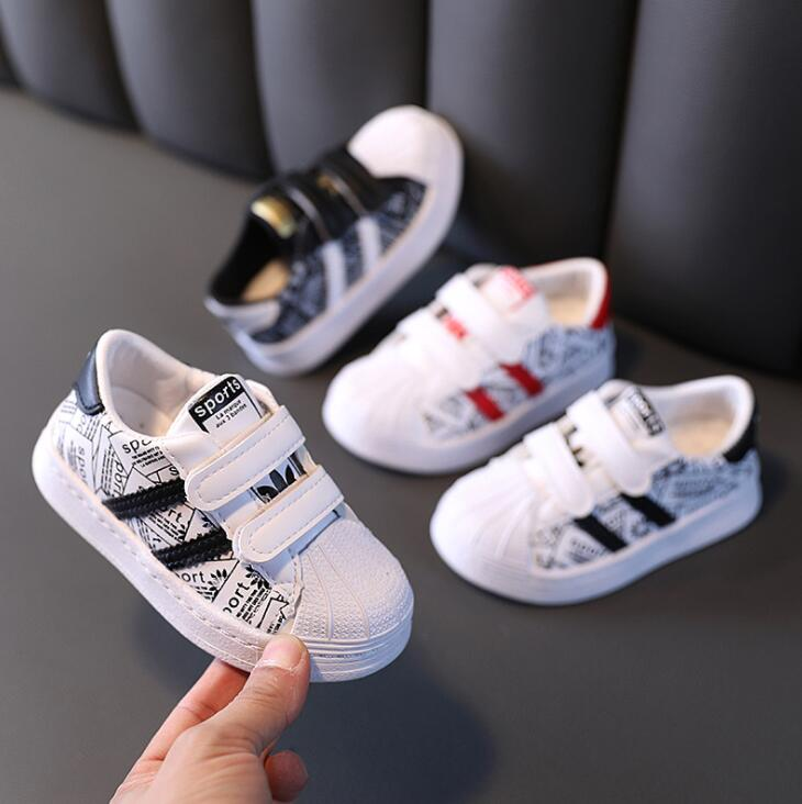 Autumn Kids Sport Shoes Boys Girl Sneakers Baby Children Shoes Fashion White Flat Sport Breathable Toddler Casual Student Shoes 1