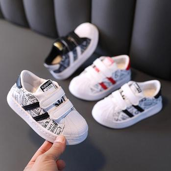 Autumn Kids Sport Shoes Boys Girl Sneakers Baby Children Shoes Fashion White Flat Sport Breathable Toddler Casual Student Shoes