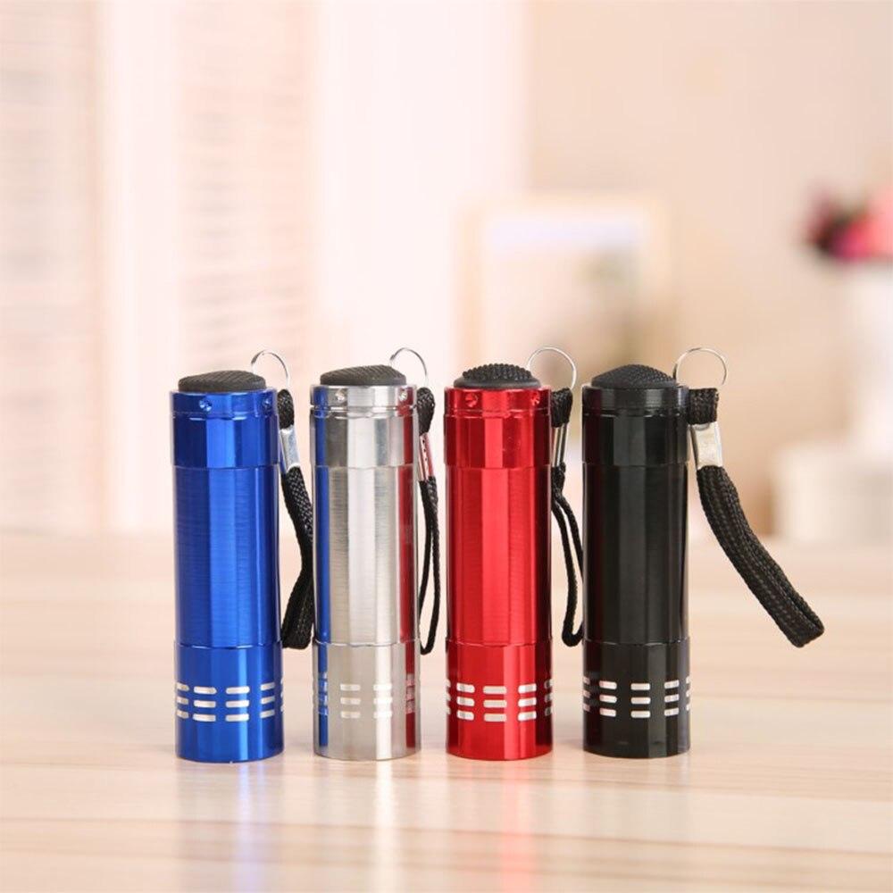 2020 Mini Flashlight Aluminum Alloy Ultraviolet Flashlight 9 LED Flashlight Camping Light Led Lights Tactical Flashlight