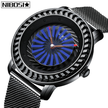 цены NIBOSI New Design Relogio Masculino Mens Watches Top Brand Luxury Unique Dial Quartz Watch Men Waterproof Casual Mesh Men Watch