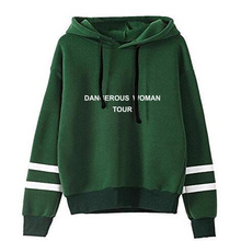 Green Hooded Ariana Grande non bag bar long sleeve Hoodies F