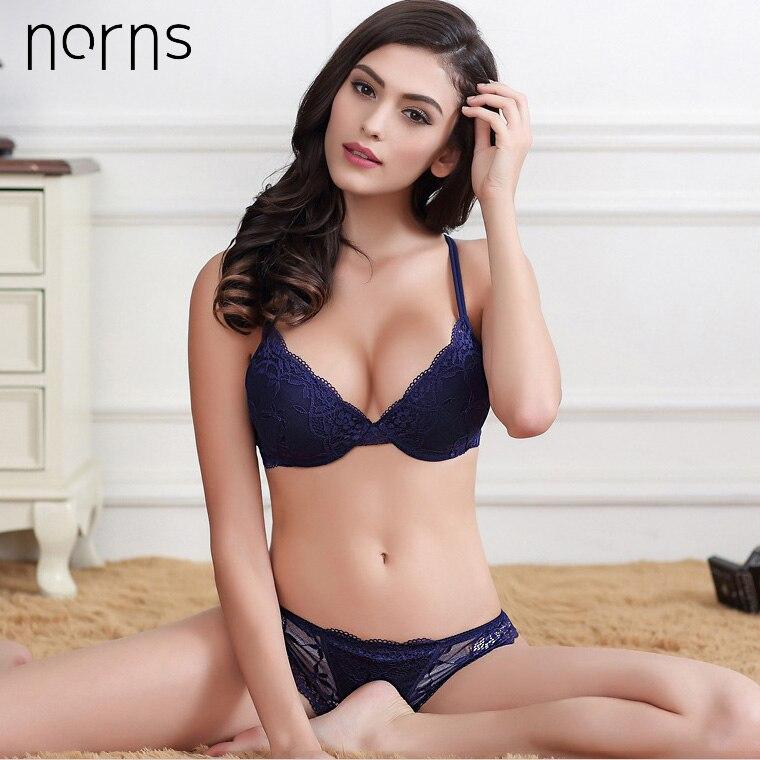 Image 3 - Norns women lace lingerie set Unlined Push Up Bra Set Fashion active Lingerie and panty bra bralette set underwearBra & Brief Sets   -