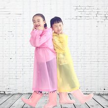 Childrens raincoats Eva transparent fashion multi-style thick raincoat non-disposable