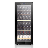 6 layers Single Door Wine Constant Temperature Wine Cabinet Commercial Refrigerated Display Wine Cabinet UV resistant 44 Bottles