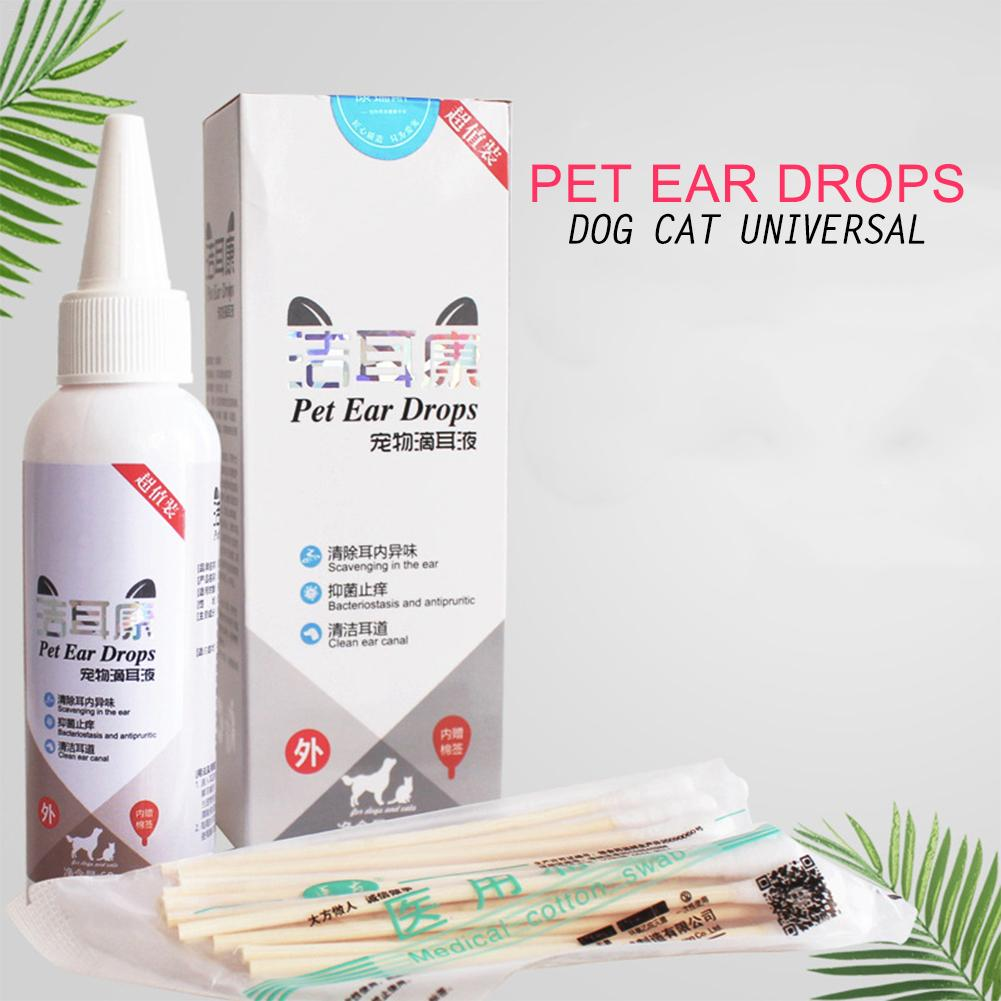 Pet Ear Cleaner Cat Dog Ear Drops For Infections Control Yeast Mites Stop Itching Gentle Cleaning Keep Hygiene