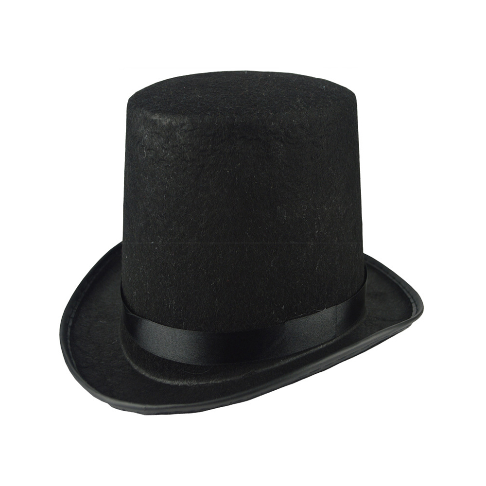 2020 Performed High Hat Halloween Magic Hat Cap Flat The Magician Fashion Black Hat Jazz Stage Performances Of Men And Women