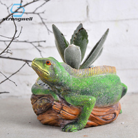 Strongwell Nordic Lizard Flower Pot Garden Resin Flowerpot Wedding Decoration Home Decoration Accessories Tabletop Birthday Gift