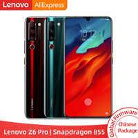 """ROM globale d'origine Lenovo Z6 Pro Snapdragon 855 Octa Core 6.39 """"écran FHD Smartphone arrière 48MP Quad caméras"""