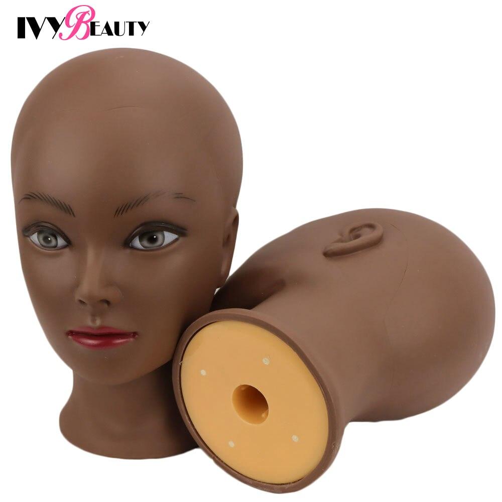 Новый женский лысая голова манекена с подставкой косметологии практика в африканском стиле обучающий манекен головы для укладки волос для ...