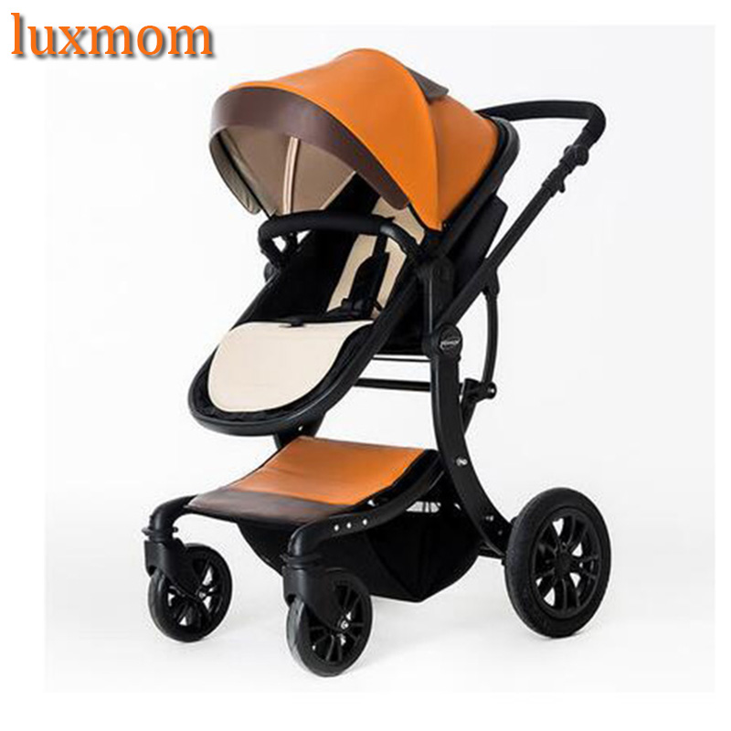 luxmom-baby-stroller-2-in-1-high-landscape-multifunctionc-can-sit-or-lie-folding-four-seasons-russia-free-shipping