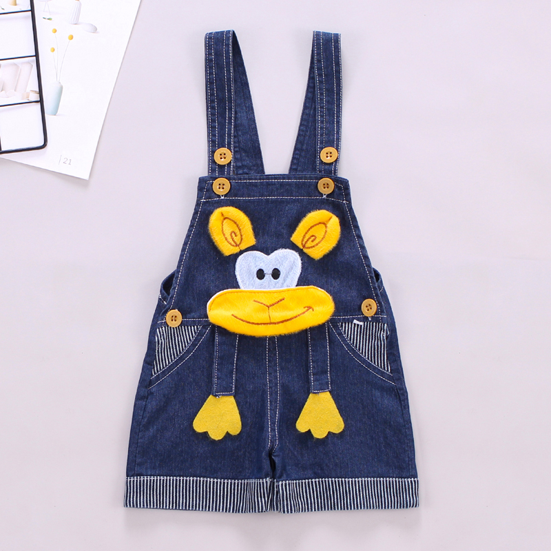 IENENS Summer Thin Cartoons Shorts Baby Toddler Boy Jeans Overalls Dungarees Child Kids Boys Denim Trousers Infant Short Pants 1