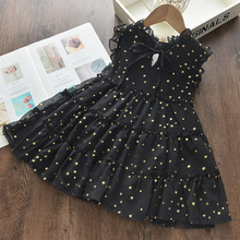 Menoea Girls Wedding Dress 2020 Summer Fashion Girl Kids Party Dresses Starry Sequins Outfits Gown Children Princess Clothes cheap Cotton Lycra Modal CN(Origin) Knee-Length O-neck Regular SHORT Cute Fits true to size take your normal size Appliques AH214-C