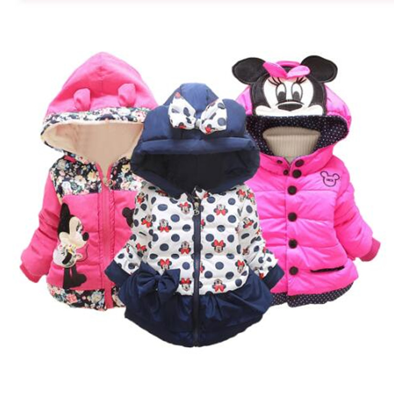 CHCDMP Coat Outerwear Jacket Panda Baby-Girls Winter Children Hooded Cartoon Thick Warm