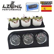 LZONE - 52 мм 3 в 1 вольт метр + Датчик температуры воды + Датчик давления масла набор вольт метр или датчик температуры масла тройной Mete