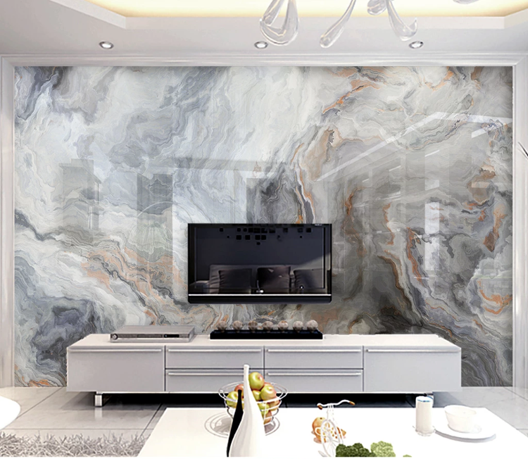 Abstract Geometric Dark Marble Wall Murals For Bedroom 3D Wall Papers HD Printed Wallpapers Murals TV Background Brick Custom