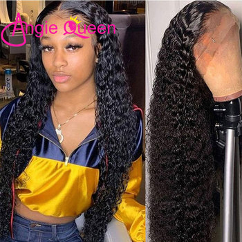 Water Wave Lace Front Wig Glueless 360 Lace Wigs Human Hair Wigs Pre Plucked Closure Wig Curly Lace Front Wigs For Black Women