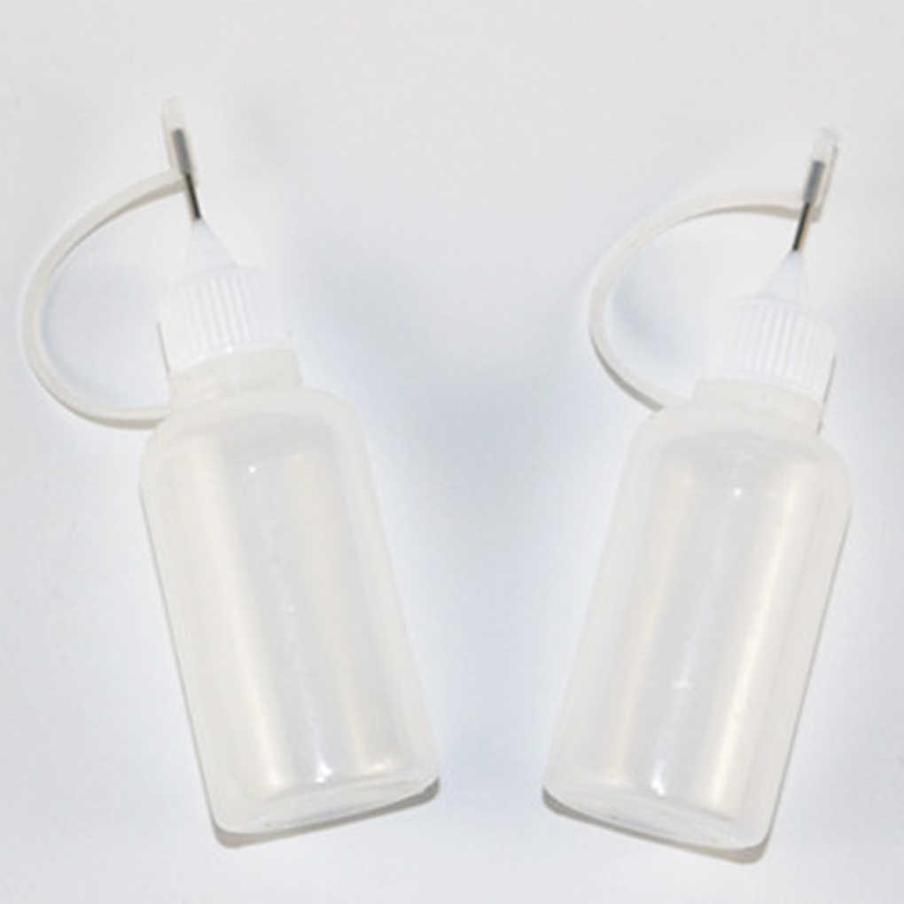30 مللي زجاجة صمغ فارغة مع إبرة الدقة تلميح قضيب زجاجة للورق اللف لتقوم بها بنفسك الحرفية