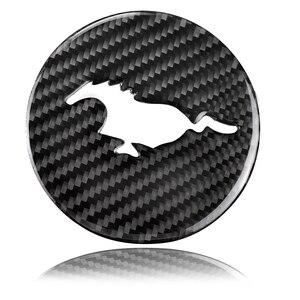 Image 2 - Mustang Reale Volante In Fibra di Carbonio Emblem per Ford Mustang Auto Adesivi Per Auto Auto Styling Mustang 2015 2018 Adesivi accessori