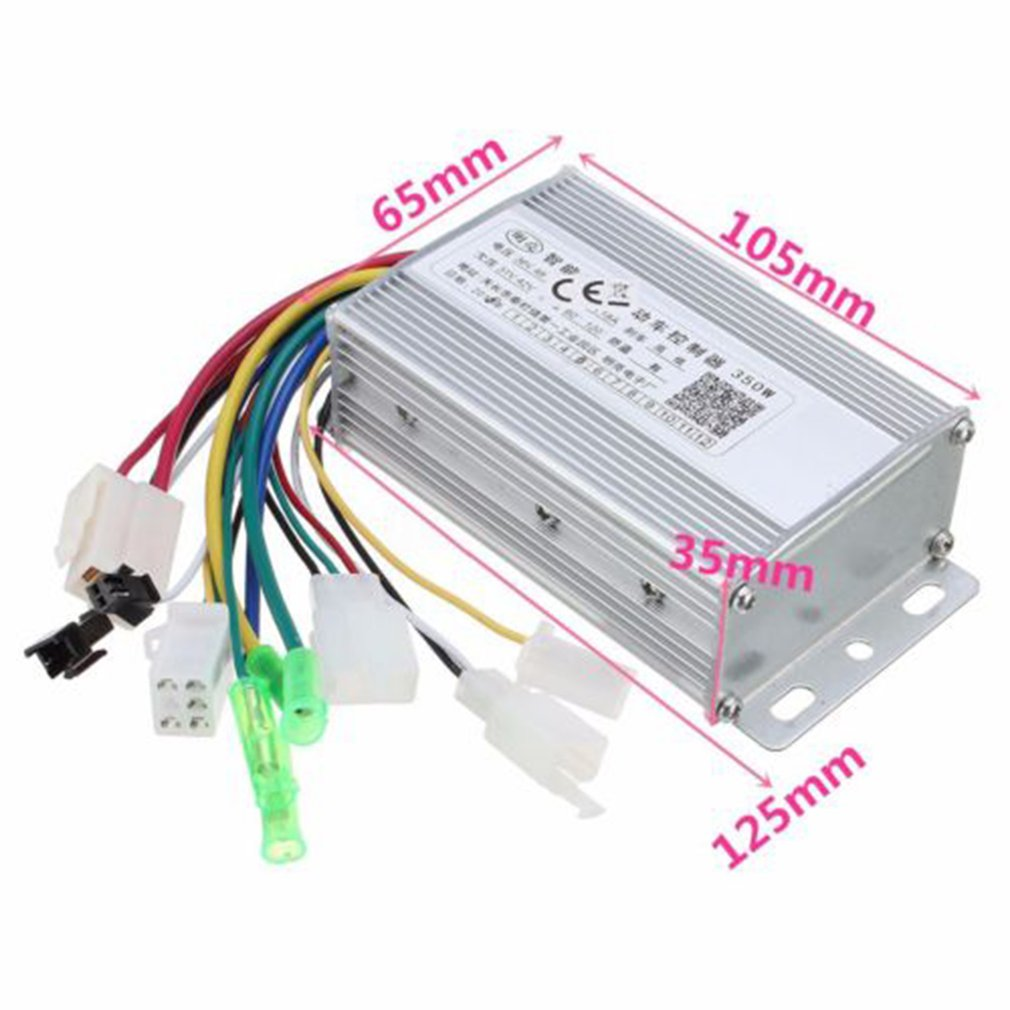 36V/48W 350W Waterproof Design Brush Speed Motor Controller for Electric Scooter Bicycle E-Bike Tricycle Controller 3