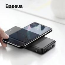 Baseus 10000 мАч Qi Беспроводное зарядное устройство банка мощности для iPhone 11 Pro Max samsung huawei внешний аккумулятор Двойной usb зарядка внешний аккумулятор