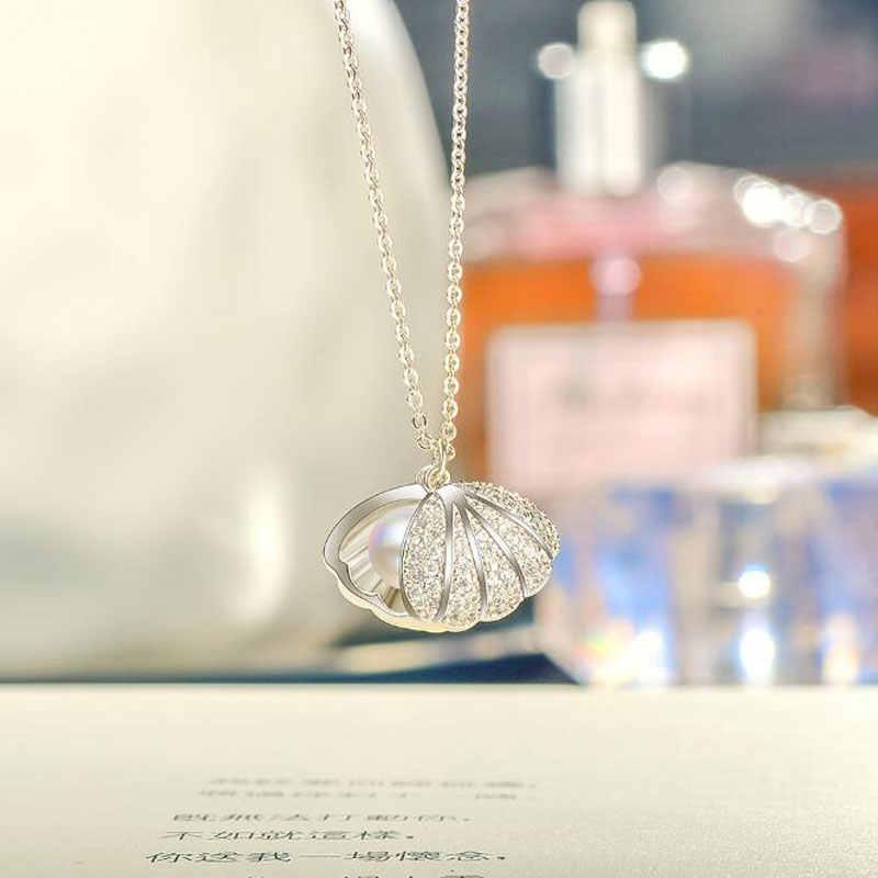Ataulgod موضة شل بيرل قلادة بسيطة شخصية الاسترليني 925 فضة دلاية مجوهرات للحزب سلسلة نسائية بيجو NW079