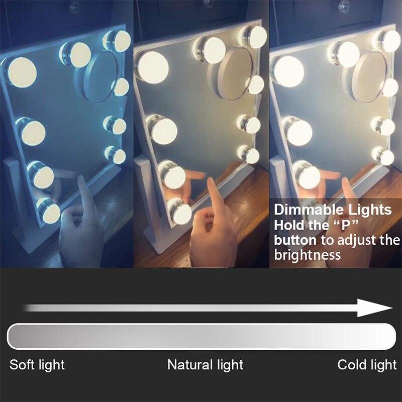 GURUN ванная комната настенный освещенный увеличительное зеркало для макияжа 10X увеличение косметическое вращающееся расширенное хромирова... - 3