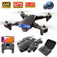 KK7 Pro drone 6K 4K HD podwójne aparaty 5G WiFi FPV kamera optyczne pozycjonowanie przepływu składany Quadcopter helikopter RC zabawki drony cheap CN (pochodzenie) Metal Z tworzywa sztucznego 500M 33*23*6 CM as the picture shows Mode2 Silnik szczotki 3 7V 4 kanały Oryginalne pudełko