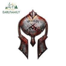EARLFAMILY – autocollant Molon Labe Spartan pour casque, étiquette pour armes à feu, 12cm x 7.2cm, 2ème modification, autocollants de voiture militaire AR15