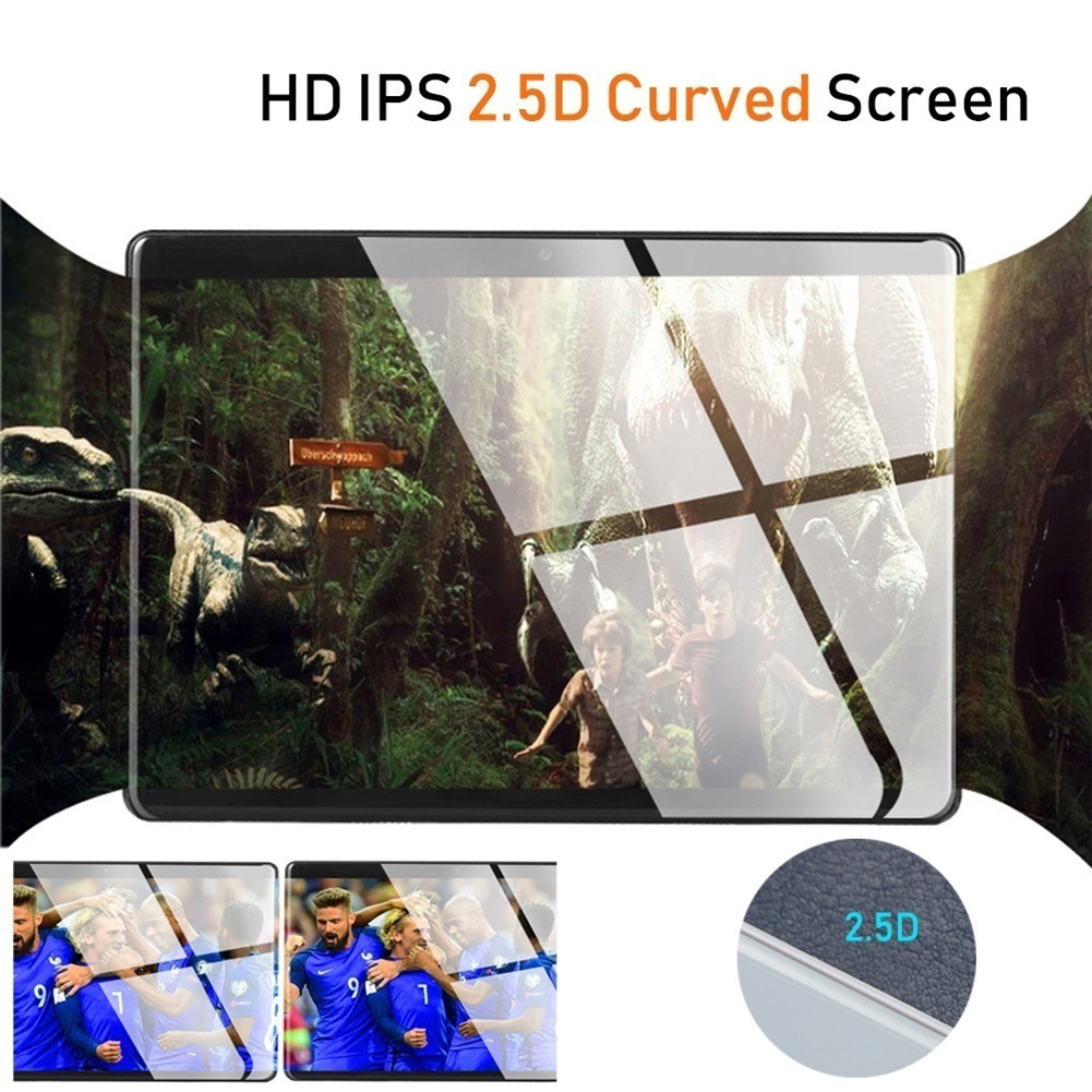 1920X1200 2.5D IPS Tempered Glass Screen 10.1 Inch Octa Core 3G 4G FDD LTE Tablet 3GB RAM Android 7.0 Tablets 2.4G+5G WIFI