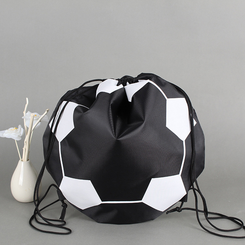 Portable Football Bags Volleyball Basketball Storage Carry Bag Nylon Outdoor Sports Soccer Training Bag Black