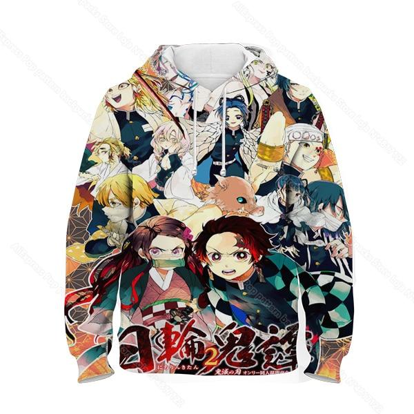 Купить children demon slayer hoodie kids kimetsu no yaiba 3d print