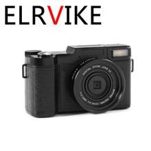 ELRVIKE 2021 24MP HD Half-DSLR Professional Digital Cameras With 4X Telephoto Fisheye & Wide Angle Lens Camera Macro HD Camera
