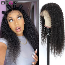 180 Density T Part Wigs Afro Kinky Curly Lace Front Wigs For Black Women Brazilian Lace Wig Pre Plucked Remy Human Hair Wigs