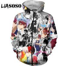 Liasoso 3d унисекс с принтом героями из мультфильма «Мой герой