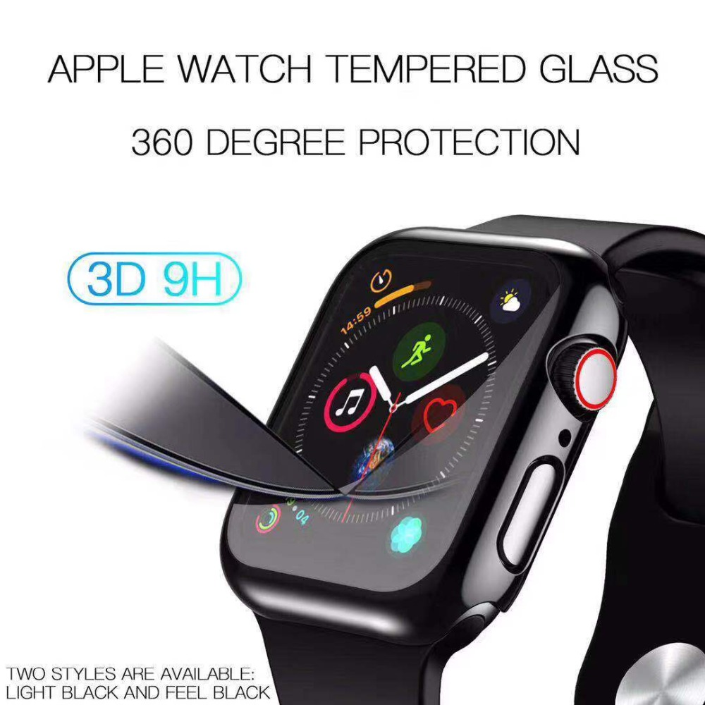 Case+Tempered Glass For Apple Watch 40/44mm Series 6 SE 5 4 Screen Protector coverage Bumper case for iwatch Series 3 2 38/42mm