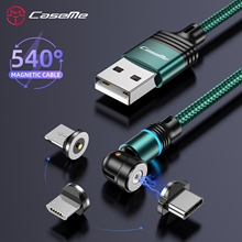 Magnetic-Charging-Cable Rotation Fast-Lightning Type-C iPhone Xiaomi Redmi 3-In-1 LED