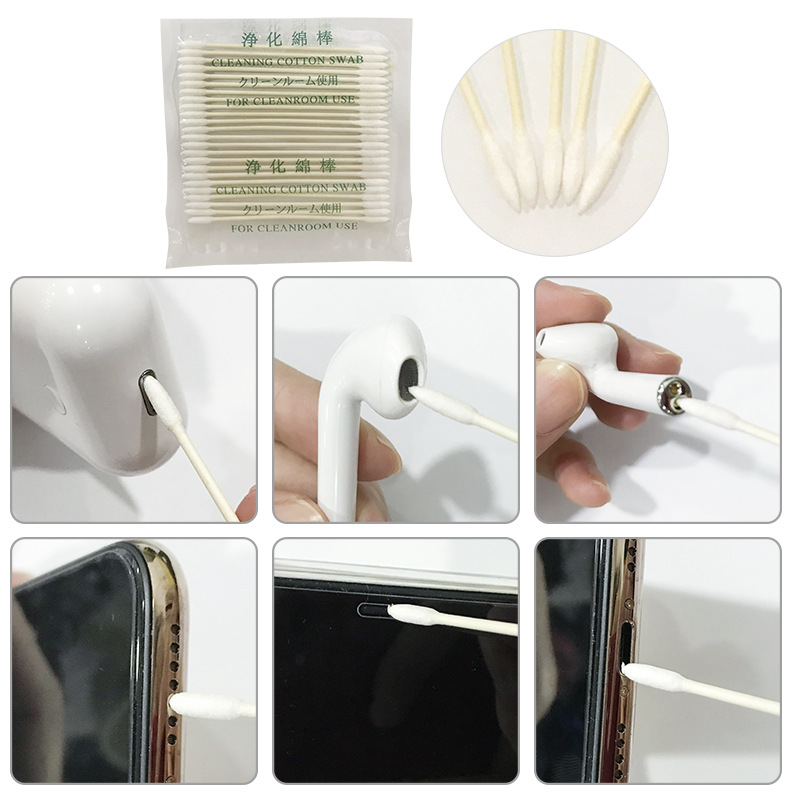25/50pcs Cotton Disposable Swab For Airpods Pro Case Cleaning Tool For Air Pods Earphone Phone Charge Port For Airpods Cleaner