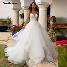 Женское свадебное платье с открытой спиной smileven длинное