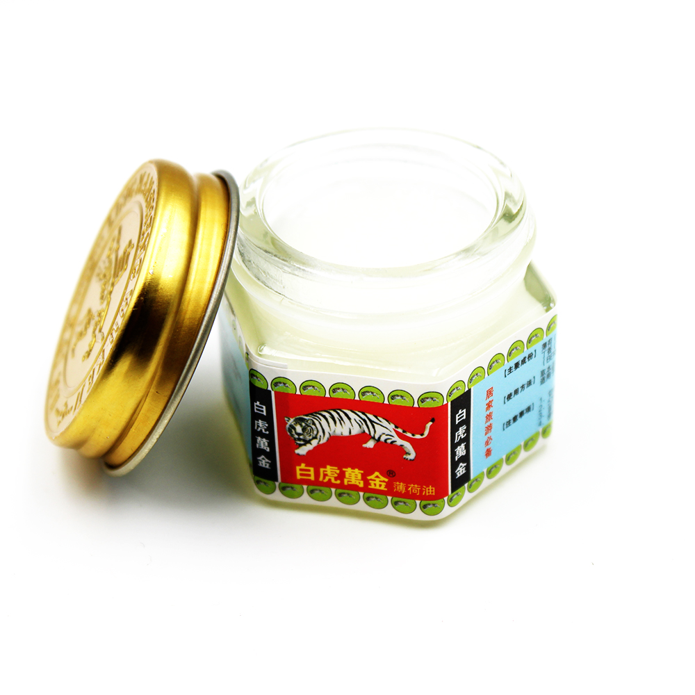 15g/box White Tiger Balm Pain Relief Plaster Ointment Insect Bites Extra Strength Arthritis Joint Pain Body Massage Oil Cream