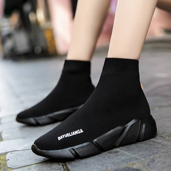 MWY Breathable Ankle Boot Women Socks Shoes Female Sneakers Casual Elasticity Wedge Platform Shoes zapatillas Mujer Soft Sole 14