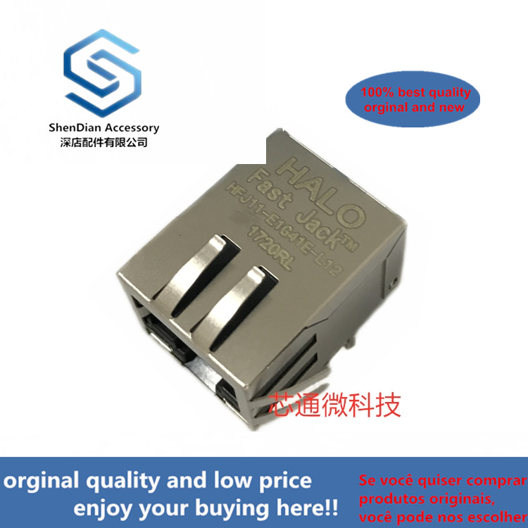 2-10pcs 100% Orginal New Best Qualtiy  HFJ11-E1G41E-L12RL HALO RJ45 Real Photo