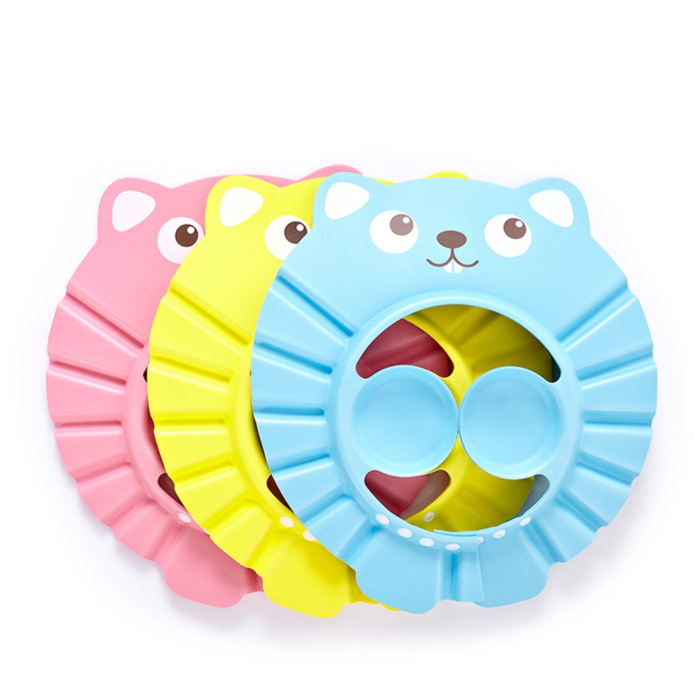 Adjustable Kids Safe Shampoo Shower Bathing Cap Bath Protect Soft Cap For Baby Wash Hair Shield Children Bathing Hat