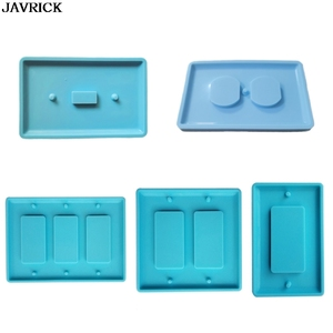 Crystal Epoxy Resin Molds Switch Socket Panel Handmade Silicone Mould DIY Plate Crafts Home Decoration Making Tools