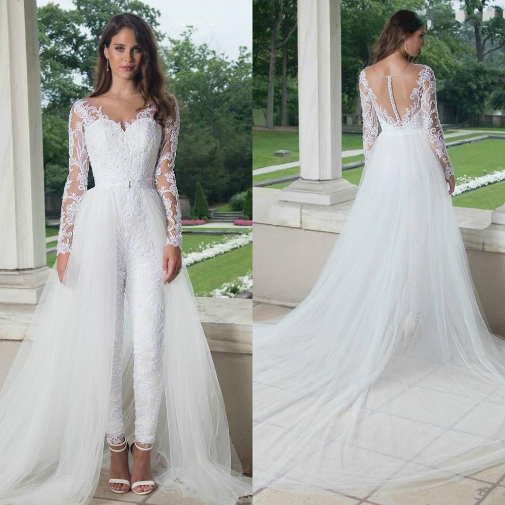 White Jumpsuit 2020 Wedding Dresses