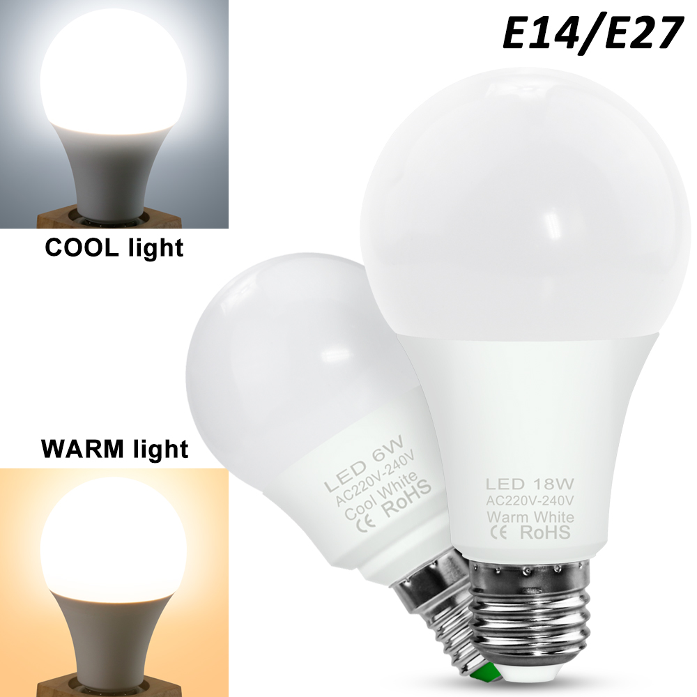LED E27 Light Bulbs E 14 LED Lamp 2835 3W 6W 9W 12W 15W 18W 20W Bombillos LED Spotlight Table Lamp Lamps Light Home Decoration
