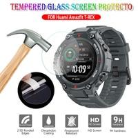 Película protectora de vidrio templado HD 9H para Xiaomi Huami Amazfit t-rex, Protector de pantalla de reloj inteligente, accesorios